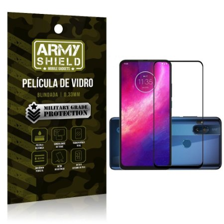 Película de Vidro 3D Cobre a Tela Toda Blindada Moto One Hyper - Armyshield