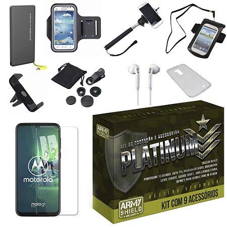 Kit Platinum Tipo C Moto G8 Plus com 9 Acessórios - Armyshield