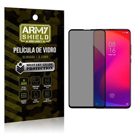 Película de Vidro 3D Privacidade Redmi K20 Mi9T - Armyshield