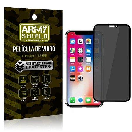 Película de Vidro 3D Anti Espião Curioso iPhone XR - Armyshield