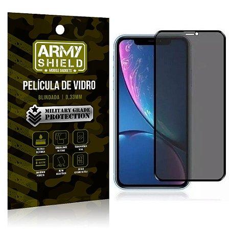 Película de Vidro 3D Anti Espião Curioso iPhone XS - Armyshield