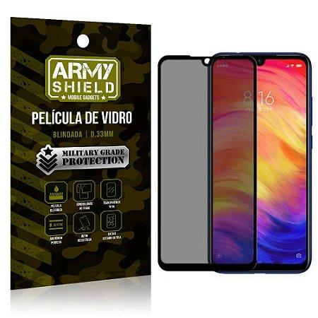 Película de Vidro 3D Anti Espião Curioso Redmi Note 7 - Armyshield