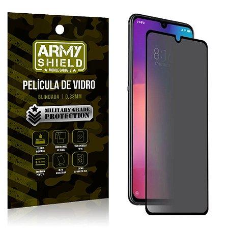 Película de Vidro 3D Anti Espião Curioso Mi 9 - Armyshield
