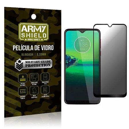 Película de Vidro 3D Anti Espião Curioso Moto G8 Plus - Armyshield