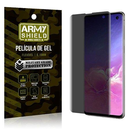 Película de Gel 3D Anti Espião Curioso Galaxy S10 - Armyshield