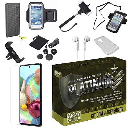 Kit Platinum Tipo C Galaxy A51 com 9 Acessórios - Armyshield