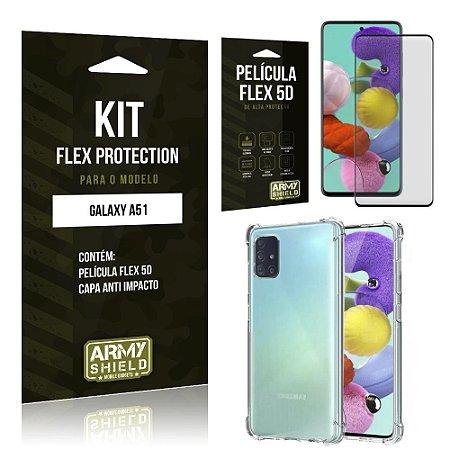 Kit Flex Protection Galaxy A51 Capa Anti Impacto + Película Flex 5D - Armyshield