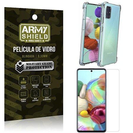 Kit Anti Impacto Galaxy A71 Capinha Anti Impacto + Película de Vidro - Armyshield