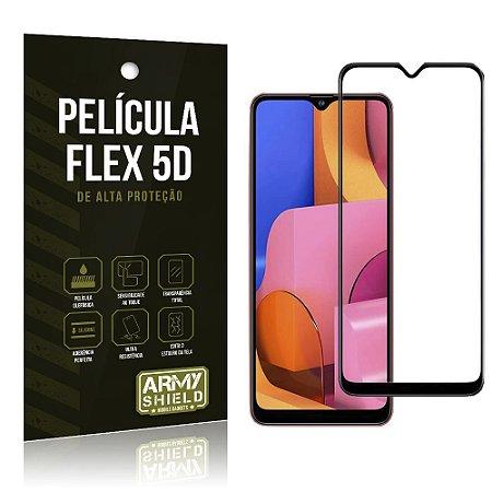 Película Flex 5D Cobre a Tela Toda Blindada Galaxy A20S - Armyshield