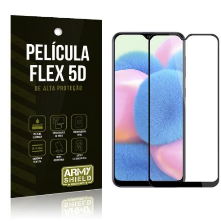 Película Flex 5D Cobre a Tela Toda Blindada Galaxy A30S - Armyshield