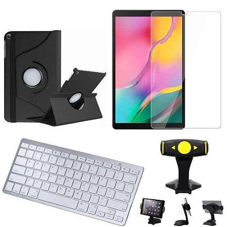 Capa Giratória Samsung Tab A 10.1 T515/T510  + Película + Teclado +Suporte Mesa - Armyshield
