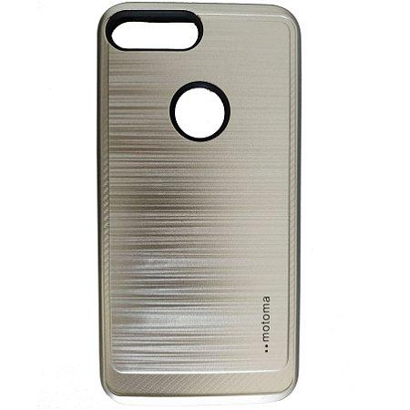 Capa Anti Impacto Motoma iPhone 7 Plus 8 Plus Prata