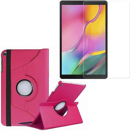 Capa Giratória Galaxy Tab A 10.1' T515/T510 Pink + Película Vidro - Armyshield