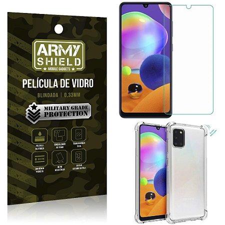 Capinha Anti Shock + Película de Vidro Blindada Samsung Galaxy A31 - Armyshield