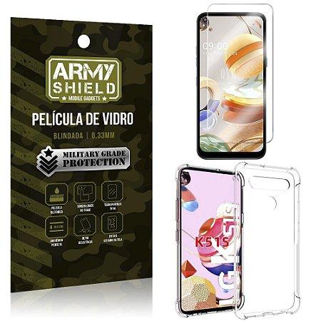 Capinha + Película de Vidro Blindada LG K51s - Armyshield