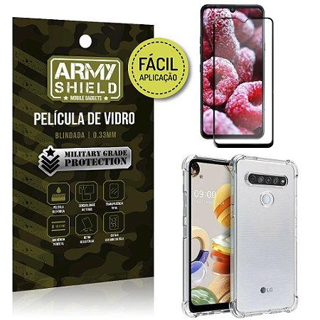 Película 3D Full Cover Fácil Aplicação LG K41s + Capa antishock - Armyshield