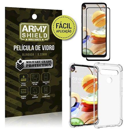 Película 3D Full Cover Fácil Aplicação LG K61 + Capa antishock - Armyshield