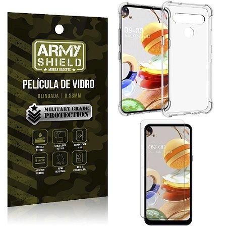 Capinha + Película de Vidro Blindada LG K61 - Armyshield