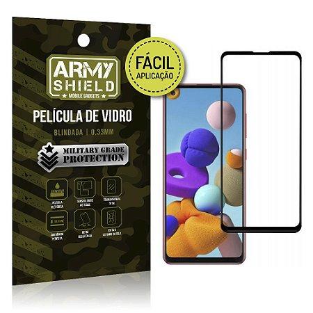 Película de Vidro 3D de Fácil Aplicação Galaxy A21s - Armyshield