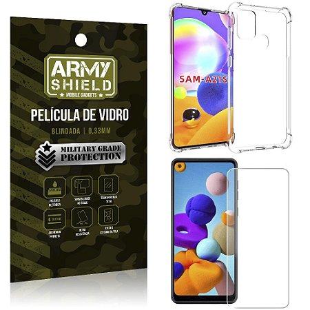 Capinha + Película de Vidro Blindada Galaxy A21s - Armyshield