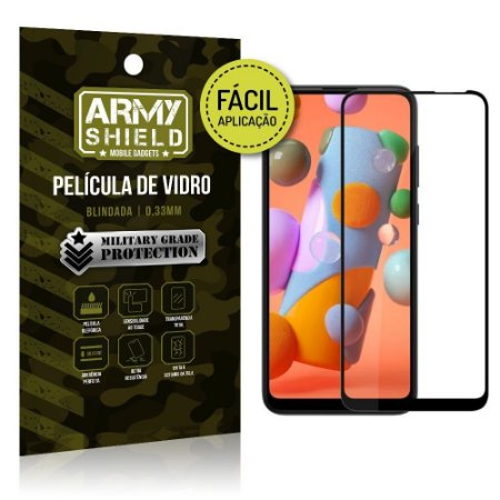 Película de Vidro 3D de Fácil Aplicação Galaxy A11 - Armyshield