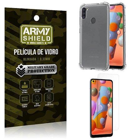 Capinha + Película de Vidro Blindada Galaxy A11 - Armyshield