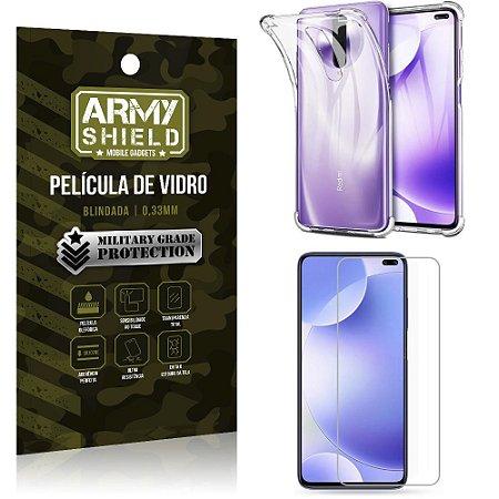 Capinha + Película de Vidro Blindada  Redmi K30 - Armyshield