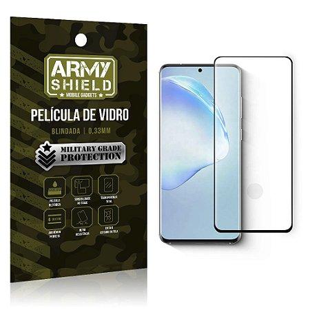 Película de Vidro Blindada Curvada cola em toda tela Galaxy S20 - Armyshield