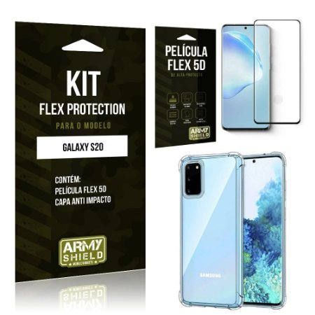 Kit Flex Protection Galaxy S20 Capa Anti Impacto + Película Flex 5D - Armyshield