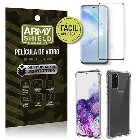 Película 3D Full Cover Fácil Aplicação Galaxy S20 Plus+ Capa antishock - Armyshield