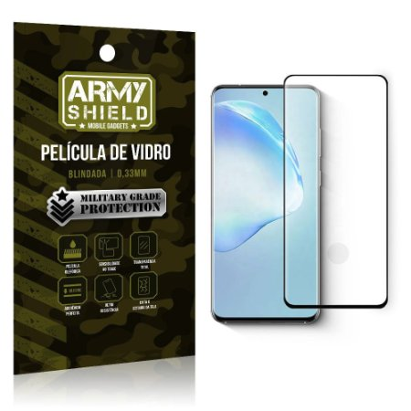 Película de Vidro Blindada Curvada cola em toda tela Galaxy S20 Ultra - Armyshield