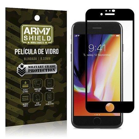 Película de Vidro 3D Cobre a Tela Toda Blindada iPhone SE 2020 - Armyshield