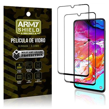 Kit 2 Películas de Vidro Blindada 3D Full Cover Galaxy A70 - Armyshield