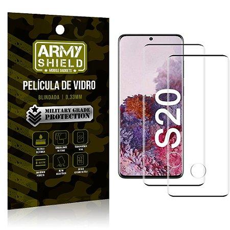 Kit 2 Películas de Vidro Blindada 3D Full Cover Galaxy S20 - Armyshield