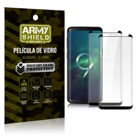 Kit 2 Películas de Vidro Blindada 3D Full Cover Galaxy S9 Plus - Armyshield