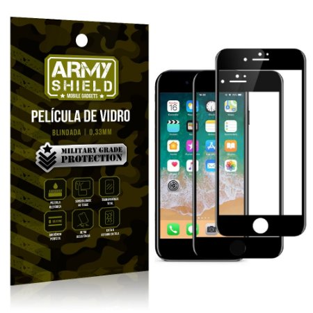 Kit 2 Películas de Vidro Blindada 3D Full Cover iPhone 8 - Armyshield