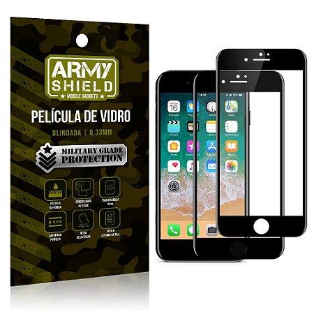 Kit 2 Películas de Vidro Blindada 3D Full Cover iPhone 8 Plus - Armyshield