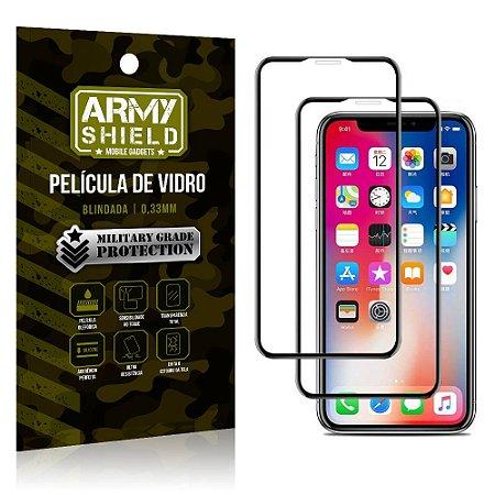 Kit 2 Películas de Vidro Blindada 3D Full Cover iPhone XS 5.8 - Armyshield