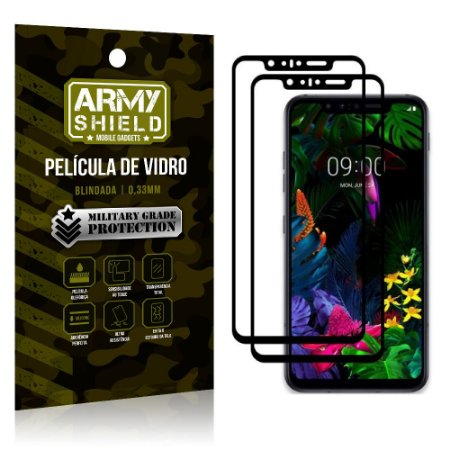 Kit 2 Películas de Vidro Blindada 3D Full Cover LG G8S - Armyshield
