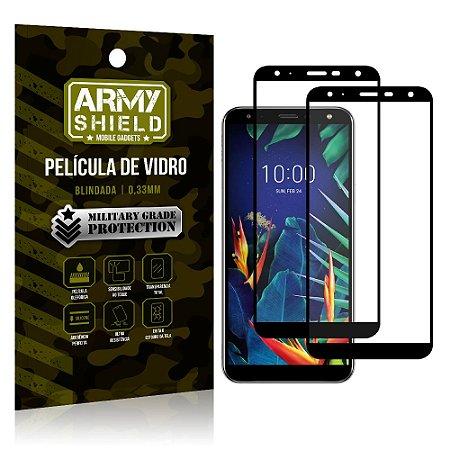 Kit 2 Películas de Vidro Blindada 3D Full Cover LG K12 K12 Plus - Armyshield