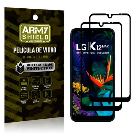 Kit 2 Películas de Vidro Blindada 3D Full Cover LG K12 Max - Armyshield