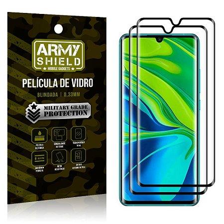 Kit 2 Películas de Vidro Blindada 3D Full Cover Mi Note 10 - Note 10 Pro - Armyshield
