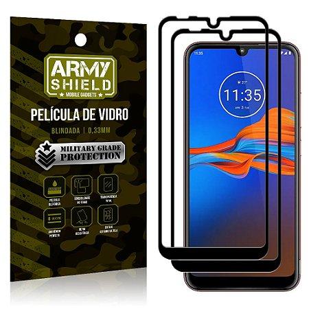 Kit 2 Películas de Vidro Blindada 3D Full Cover Moto E6 Plus - Armyshield