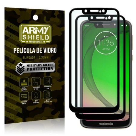 Kit 2 Películas de Vidro Blindada 3D Full Cover Moto G7 Play - Armyshield