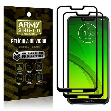 Kit 2 Películas de Vidro Blindada 3D Full Cover Moto G7 Power - Armyshield