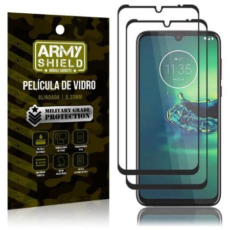 Kit 2 Películas de Vidro Blindada 3D Full Cover Moto G8 Plus - Armyshield