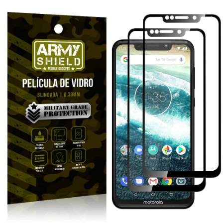 Kit 2 Películas de Vidro Blindada 3D Full Cover Moto One - Armyshield
