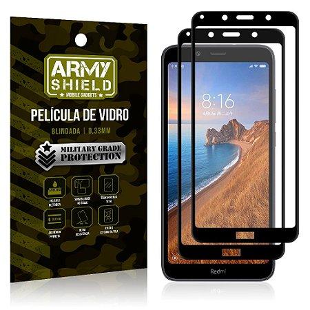 Kit 2 Películas de Vidro Blindada 3D Full Cover Redmi 7A - Armyshield