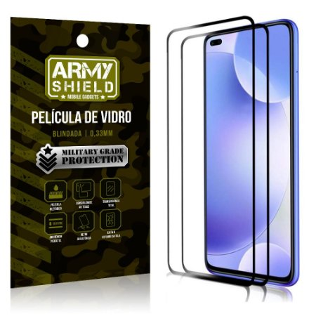 Kit 2 Películas de Vidro Blindada 3D Full Cover Redmi K30 - Armyshield