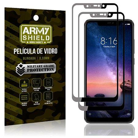 Kit 2 Películas de Vidro Blindada 3D Full Cover Redmi Note 6 Pro - Armyshield